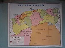 Z152 AFFICHE SCOLAIRE ECOLE ROSSIGNOL ALGERIE POLITIQUE & TUNISIE