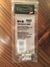 New Weaver 61S Top Mount Base Silver 48002