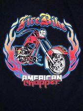 American Chopper Fire Bike  Custom Motorcycles Biker T Shirt M