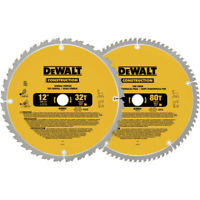 DEWALT 12 in. Series 20 Circular Saw 2-Blade Combo Pack DW3128P5 New