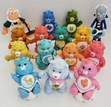 "Vintage Care Bears Figures Poseable Lot Grumpy Bear Baby Cloud Professor 3"" PVC"