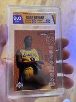 📈🔥 1997 Upper Deck Rookie Exclusives HOF Kobe Bryant HGA 9 Like PSA BGS 🐐🏆