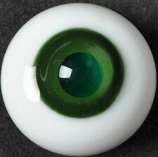 Bright colours(DarkGreen Iris&Pupil) 14mm Glass Stript BJD Eyes for 1/4 BJD Doll