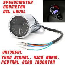 KMH Motorcycle Fuel Level Meter Digital Odometer Speedometer Gauge Turn Signal