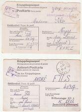 WW2: 7 Kriegsgefangenenpost cards; Andre Fils to family members, France, 1941-43
