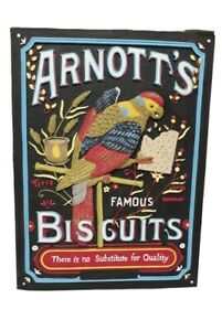 Arnott's Famous Biscuits Large Ceramic Hand painted wall hanging RARE Collecters