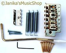 Stratocaster Tipo Guitarra Puente Tremolo Vibrato Unidad Completo Kit De Componentes Oro St Nuevo