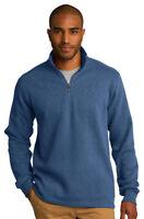 Port Authority Men's Long Sleeve Fleece 1/4 Zip Winter Pullover XS-4XL. F295