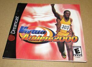 Virtua Athlete 2000 (Instruction Manual Only) Sega Dreamcast Authentic