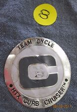 BMX Hall of fame HTX Curb Cruisers Team Cycle, Head Badge Emblem scooter