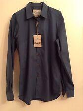 BNWTT 100 Auth Vivienne Westwood Mens Logo Blue Shirt. UK 52