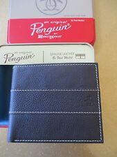 NEW Original Penguin by Munsingwear Bifold Wallet Men's ID $40 Brown Leather