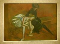 EDGAR DEGAS Little danser Painting Cardboard Not a Print FRAMED