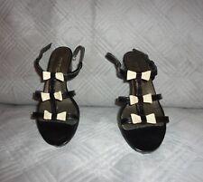Sandales noires vernies en cuir taille 39 comme neuves