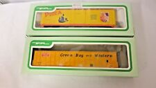 Lot 2 Older Bev-Bel HO scale Railroad Train Freight Cars: GBW, Evans Pinta Boxed