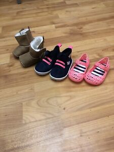 Baby Girl Pram First Shoes X3 Jelly Shoes Trainers Boots See Detail 3-6 6-9 9-12