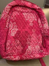 Vera Bradley Pink Paisley Laptop Backpack Girls Teen School Briefcase Bag New!!
