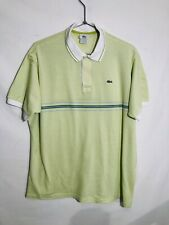 Lacoste  Men's Polo Shirt Size 7 - XL  Made in France EUC