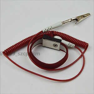 NEW Anti-static Antistatic ESD Ground Strap Wrist Band Grounding Bracelet Red
