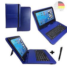 Deutsch Tastatur Case - MEDION P10506 MD 60036 10.1 zoll Keyboard Booksytle Blau