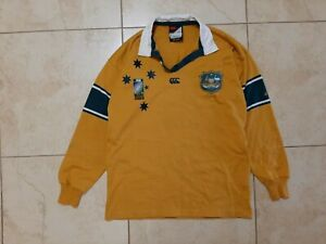 Australia Wallabies Home Rugby Union Shirt 2003 World Cup Jersey Canterbury