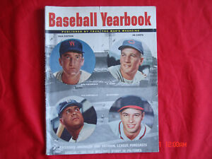 1954 BASEBALL YEARBOOK MAGAZINE ROY CAMPANELLA AL ROSEN ED MATTHEWS TED WILLIAMS