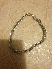 Silver Tone Rope Chain Bracelet