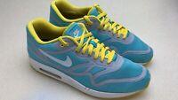Nike Air Max Lunar 1 Yellow Blue ID Running Shoes 654469 001 SZ 12.5 Men's