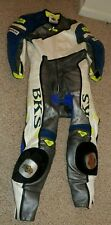 BKS Leather One Piece Motorcycle Leathers Race Suit W Suproflex Protection..NICE