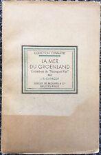 J B Charcot: LA MER DU GROENLAND, 1929 1st Ed., Rare, Greenland Voyage, 130 Ill