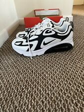 New Mens Nike Air Max 200 Trainers White/Black Size UK 11