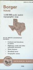 USGS Topographic Map BORGER - Texas - 1986 - 100K -
