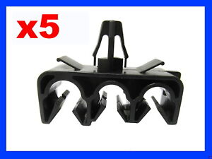 5 THREE HOLE BRAKE CLUTCH CABLE PIPE CLIP FIXING FASTENER