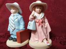 """Home Interiors Homco Vintage Figurines/Pair/""""Dressing Up""""1488/ Free Shipping"""
