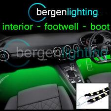 2x 375mm GREEN Interior sotto DASH / Sedile 12V SMD5050 DRL umore Illuminazione Strisce