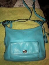 COACH 22381 LEGACY LEATHER COURTENAY HOBO BAG PURSE Crossbody ROBIN BLUE