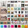 Vintage Cotton Linen Cushion Cover Waist Throw Pillow Case Sofa Car Home Decor
