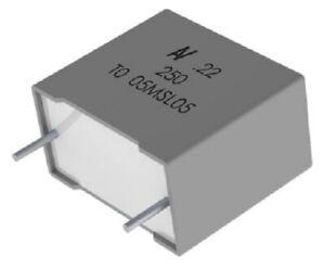 Kemet R60 POLYESTER FILM CAPACITORS 13x22x32mm 5Pcs 22µF 40VAC/63VDC ±5%