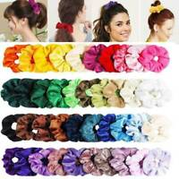 50x Hair Scrunchies Velvet Elastic Hair Bands Scrunchy Hair Tie Ropes Scruns LOT