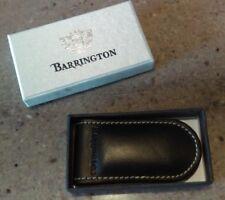 Barrington Leather Money Clip Black BRAND NEW Never Used