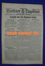 BERLINER TAGEBLATT (14.9.1916): Kawalla von den Bulgaren besetzt