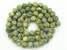61Pcs Natural Matte Rhyolite Kambaba Jasper Gemstone Round Beads 15'' 6mm
