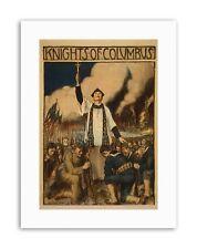 WAR WWI USA KNIGHTS COLUMBUS CATHOLIC SOCIETY Poster Military Canvas art Prints