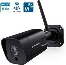 Outdoor Security Camera, 1080P WiFi Camera Wireless Surveillance Cameras, PIR Sm