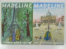 #161 lot of  2 Madeline the Cats of Rome Hardback with covers Bemelmans books