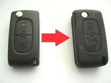 Cover Telecomando 2 Bottoni Pulsanti Chiave A Flip Per Citroen C2 C3 Berlingo