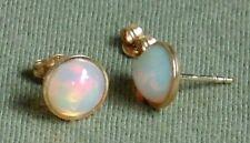 Ohrstecker Ohrringe Opal Kristallopal Solitär 585 Gold Neu wertig