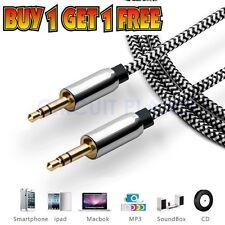 1M - 3.5mm Jack Professional HQ AUX Cable -Audio Lead For Headphone/Aux/MP3/iPod
