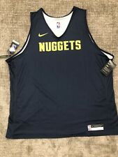 Rare NWT NIKE DRY Authentic DENVER NUGGETS Reversible PRACTICE JERSEY 3XL
