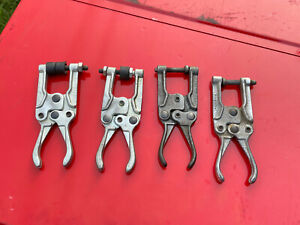 Lot of 4 Vintage KNU-Vise P-400 welding welder clamps aviation vice grips tool
